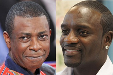 Youssou N'Dour et Akon (photo source: www.actunet.sn)